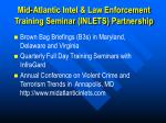 mid atlantic intel law enforcement training seminar inlets partnership