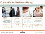 contact center solutions recap