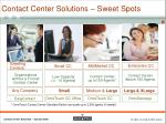contact center solutions sweet spots