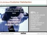 it s all about customer satisfaction