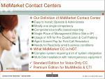 midmarket contact centers