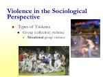 violence in the sociological perspective2