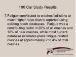 100 car study results4
