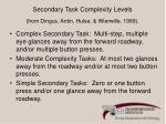 secondary task complexity levels from dingus antin hulse wierwille 1989