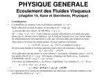 physique generale ecoulement des fluides visqueux chapitre 14 kane et sternheim physique10