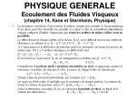 physique generale ecoulement des fluides visqueux chapitre 14 kane et sternheim physique7