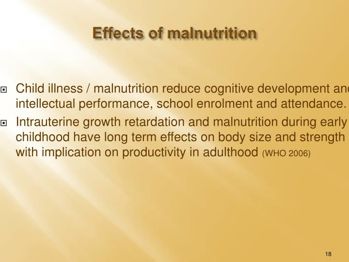 Effects of malnutrition