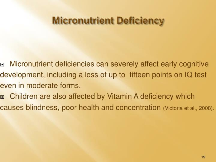 Micronutrient Deficiency