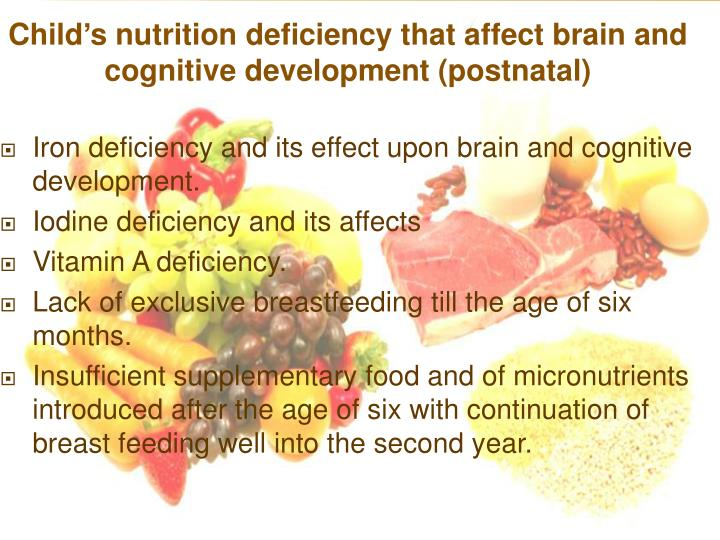 Iron deficiency and its effect upon brain and cognitive development.