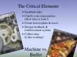the critical elements