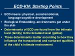 ecd kn starting points1