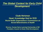 the global context for early child development
