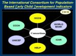 the international consortium for population based e arly child d evelopment i ndicators