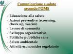 comunicazione e salute secondo l oms