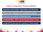 legal regulatory responsibilities
