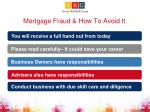 mortgage fraud how to avoid it