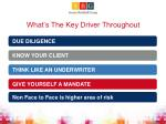 what s the key driver throughout
