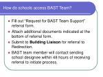 how do schools access bast team