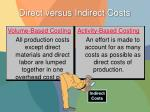 direct versus indirect costs