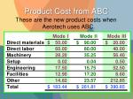 product cost from abc