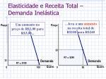 elasticidade e receita total demanda inel stica