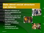 data about social structure can inform