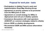 proposal for work plan tasks