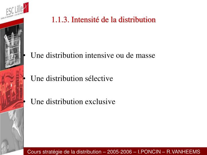 1.1.3. Intensité de la distribution