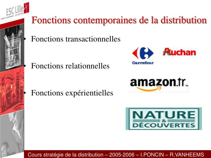 Fonctions contemporaines de la distribution