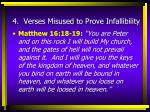 4 verses misused to prove infallibility