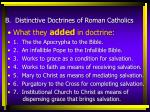 b distinctive doctrines of roman catholics