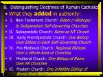 b distinguishing doctrines of roman catholics1