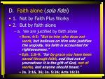d faith alone sola fidei