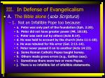 iii in defense of evangelicalism11