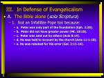 iii in defense of evangelicalism6