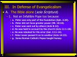 iii in defense of evangelicalism8