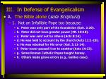 iii in defense of evangelicalism9