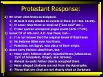 protestant response