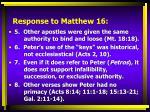 response to matthew 161