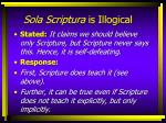 sola scriptura is illogical