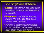 sola scriptura is unbiblical