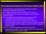 the gradual development of the roman catholic church2