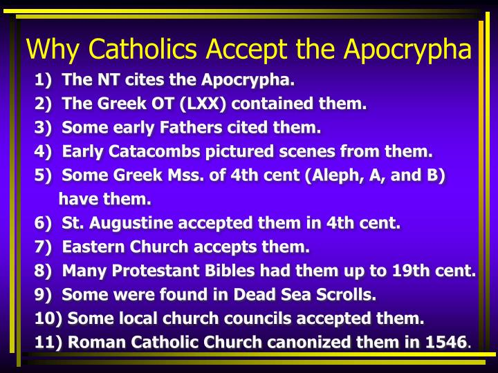Why Catholics Accept the Apocrypha