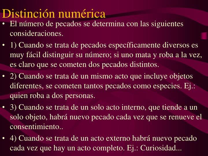 Distinción numérica