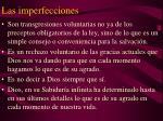 las imperfecciones