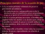 principios morales de la ocasi n de pec