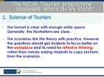 the nc v tourism programme assessed where do we stand