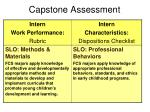 capstone assessment