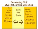 developing fcs student learning outcomes