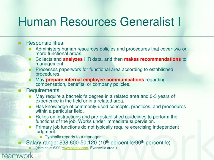 human resources generalist i n.